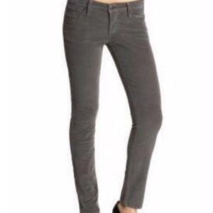 J Crew Matchstick Grey Cords Skinny Pants